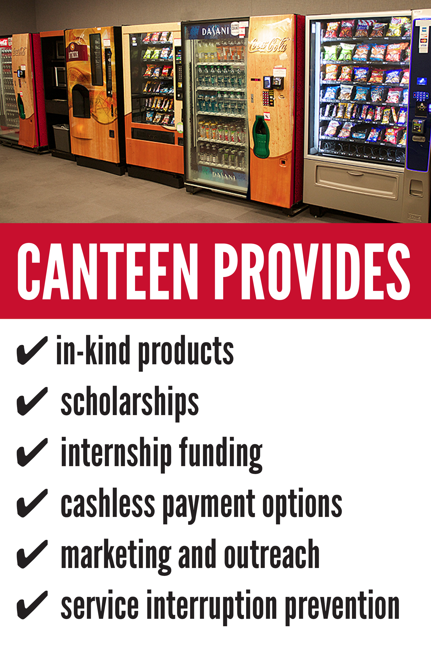 When hunger calls, the campus vending machine is always ...