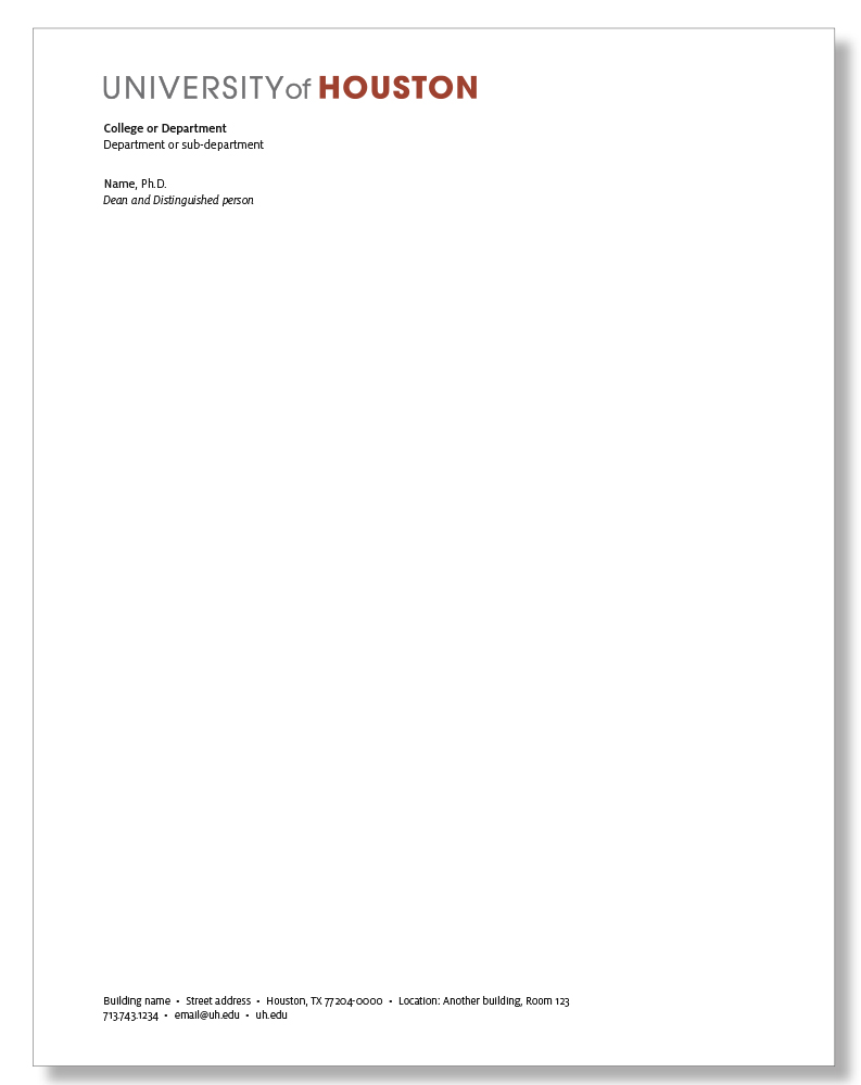 How To Track A Cell Phone Location >> Letterhead - University of Houston