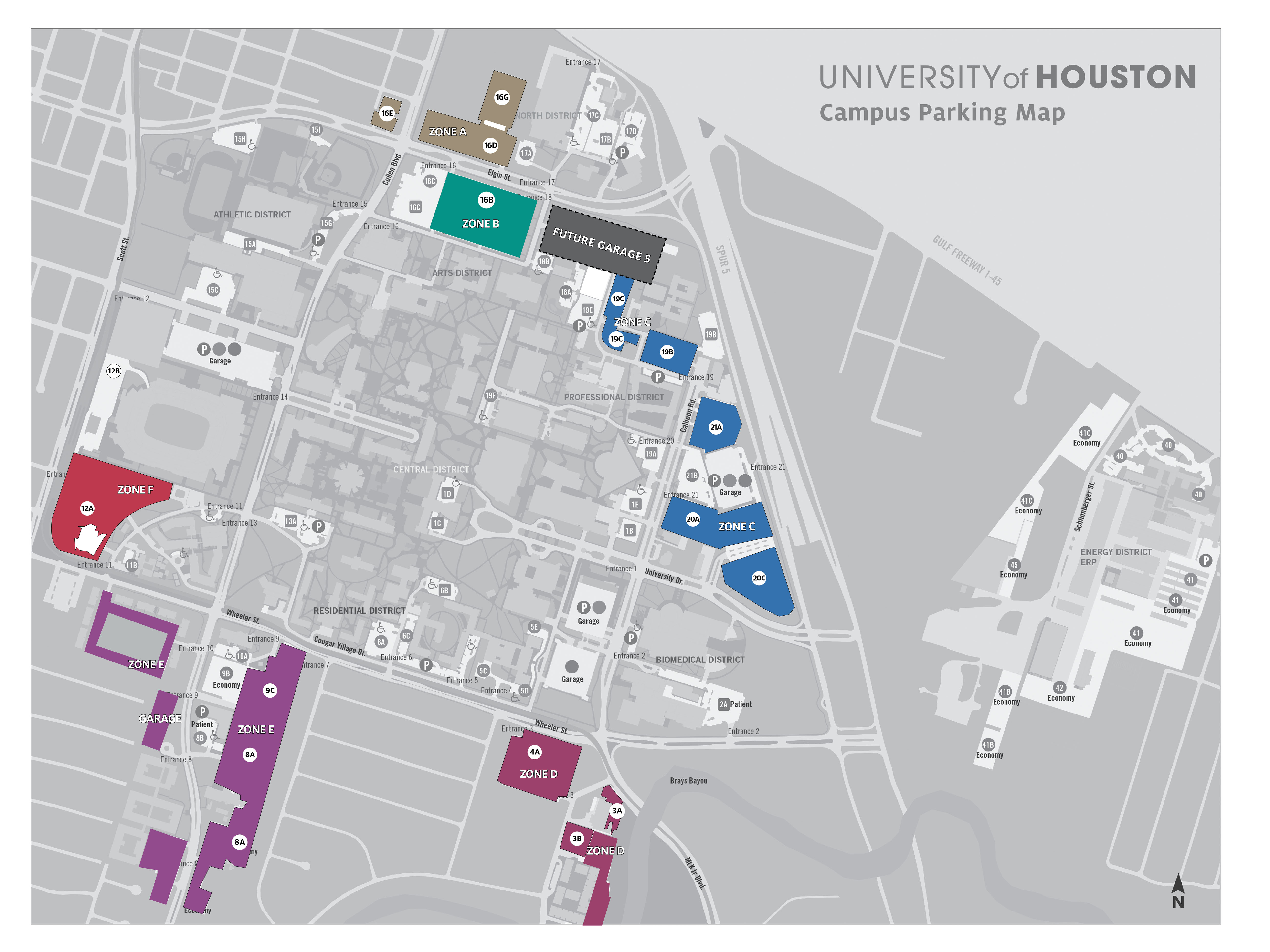 Parking Maps   University of Houston