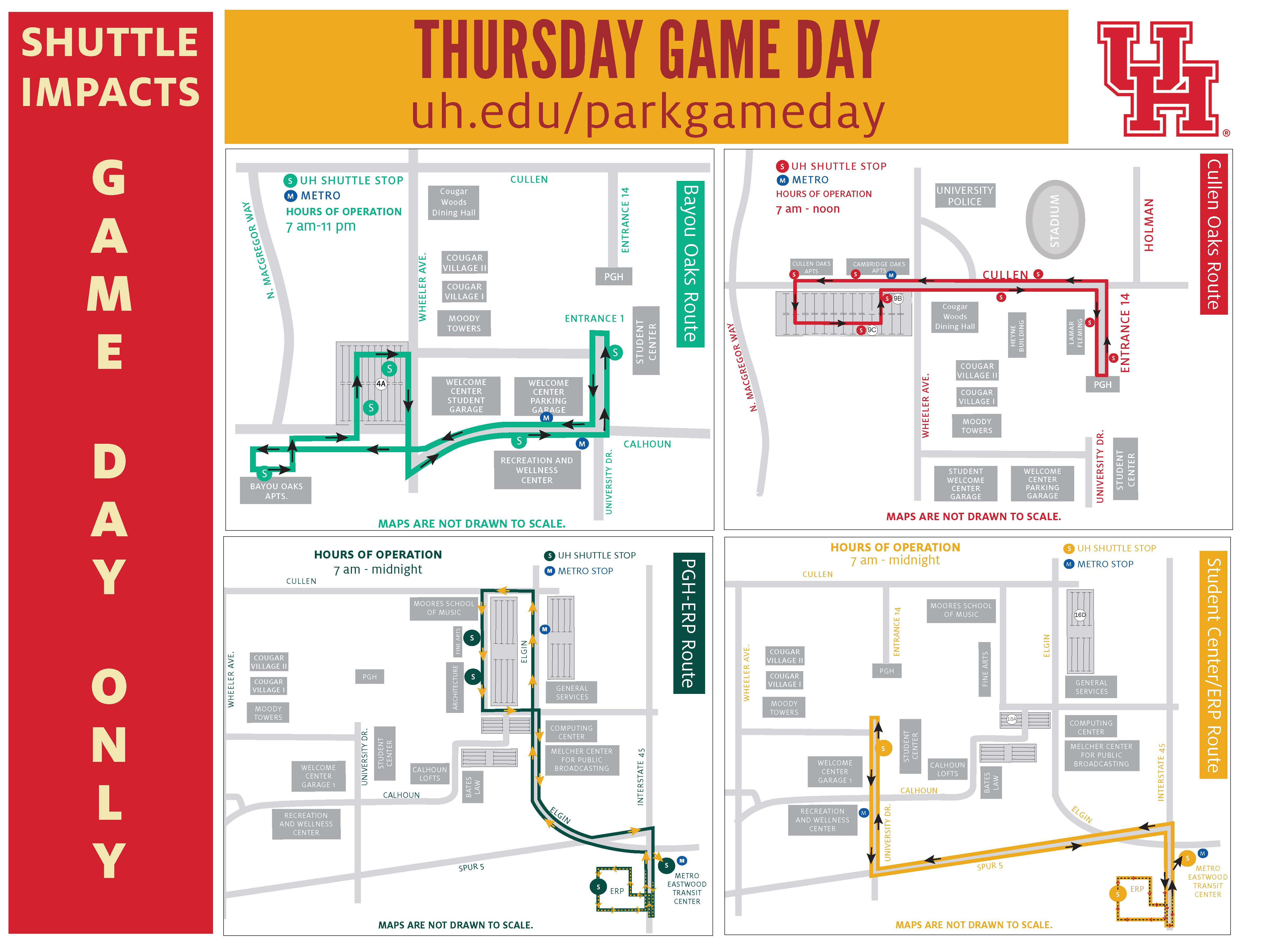 Campus Parking on Game Day - University of Houston