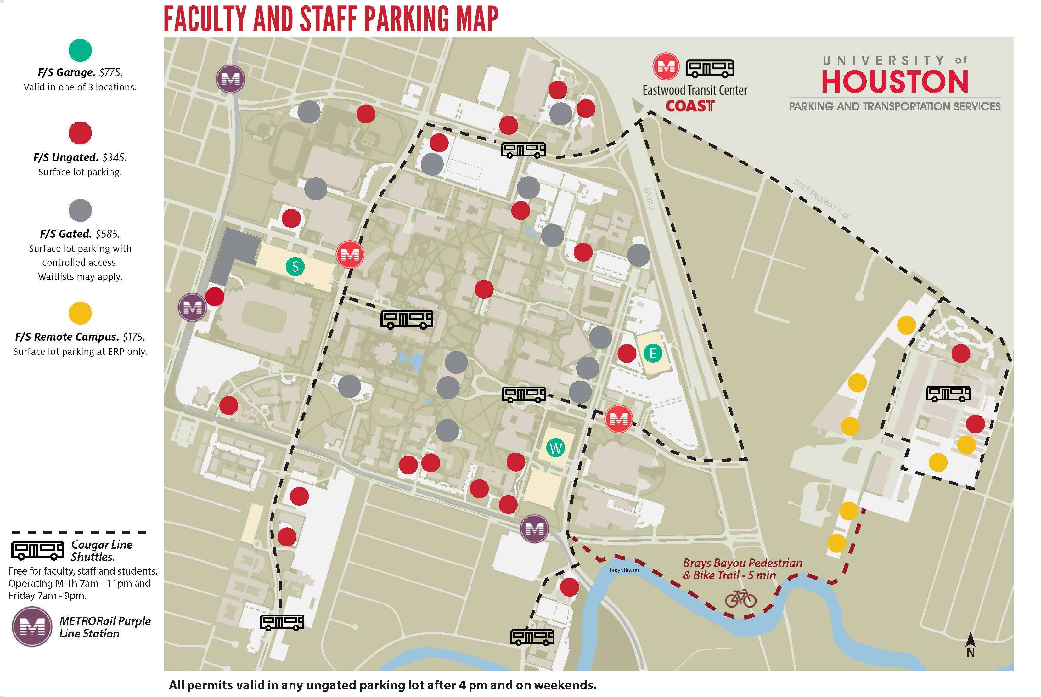 Parking Maps University Of Houston - Houston on world map