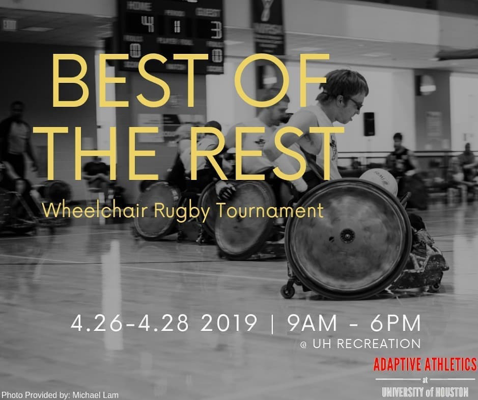 Uno Wheelchair College Tournament: Adaptive Athletics At UH To Host Wheelchair Rugby
