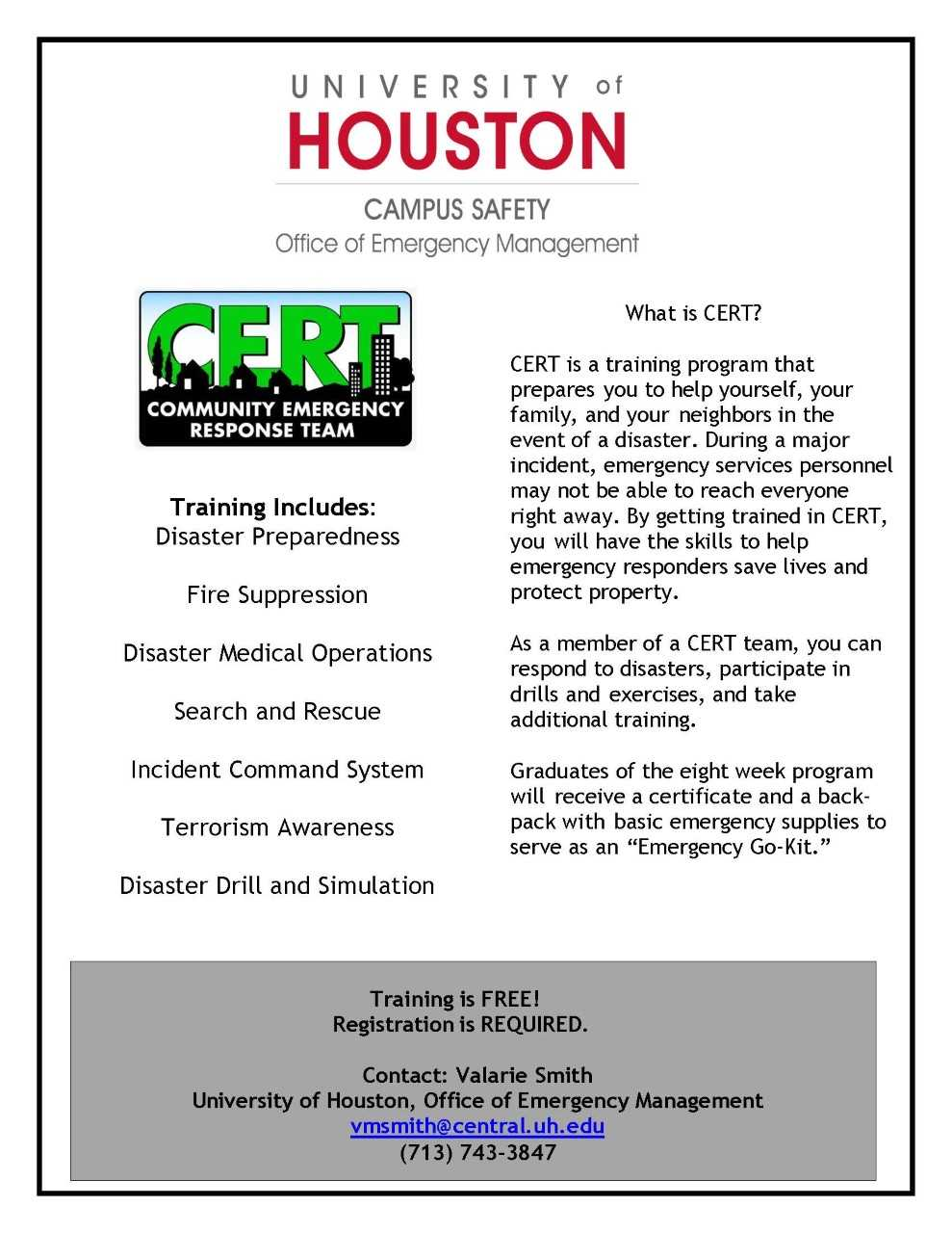 CERT - University of Houston