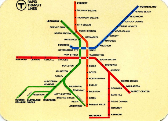 Massachusetts Subway Map.No 2985 Relative Accuracy Henry Beck S Map Of The London Underground