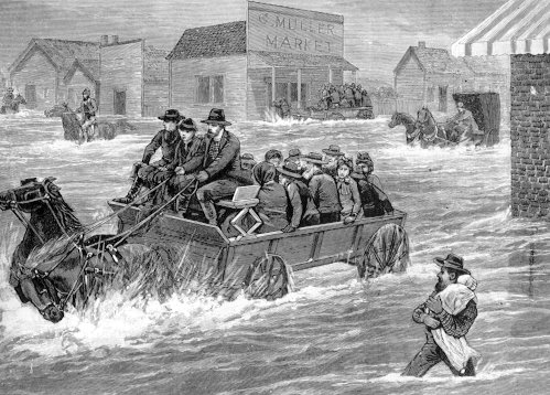 No 1626 the yellow river flooding in los angeles january 18 19 1886 from frank leslies illustrated newspaper feb 13 1886 sciox Image collections