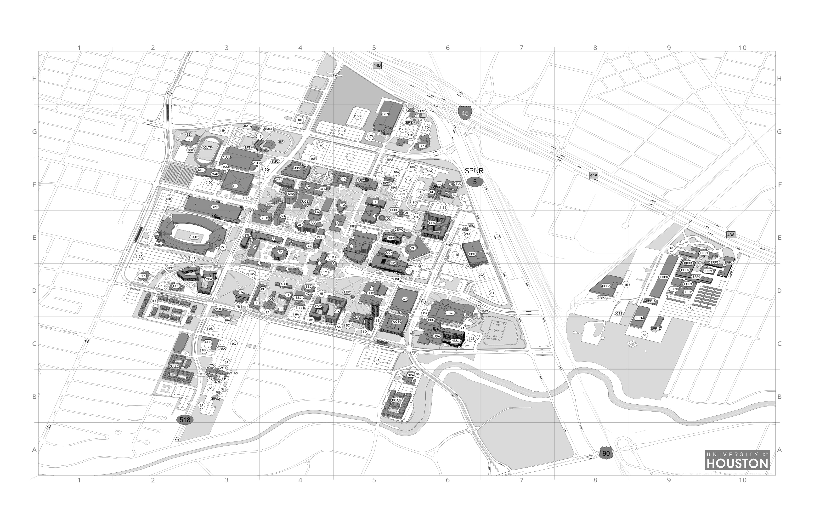 Campus Map Uh Map Of Fort Myers Florida Bora Bora Map Location