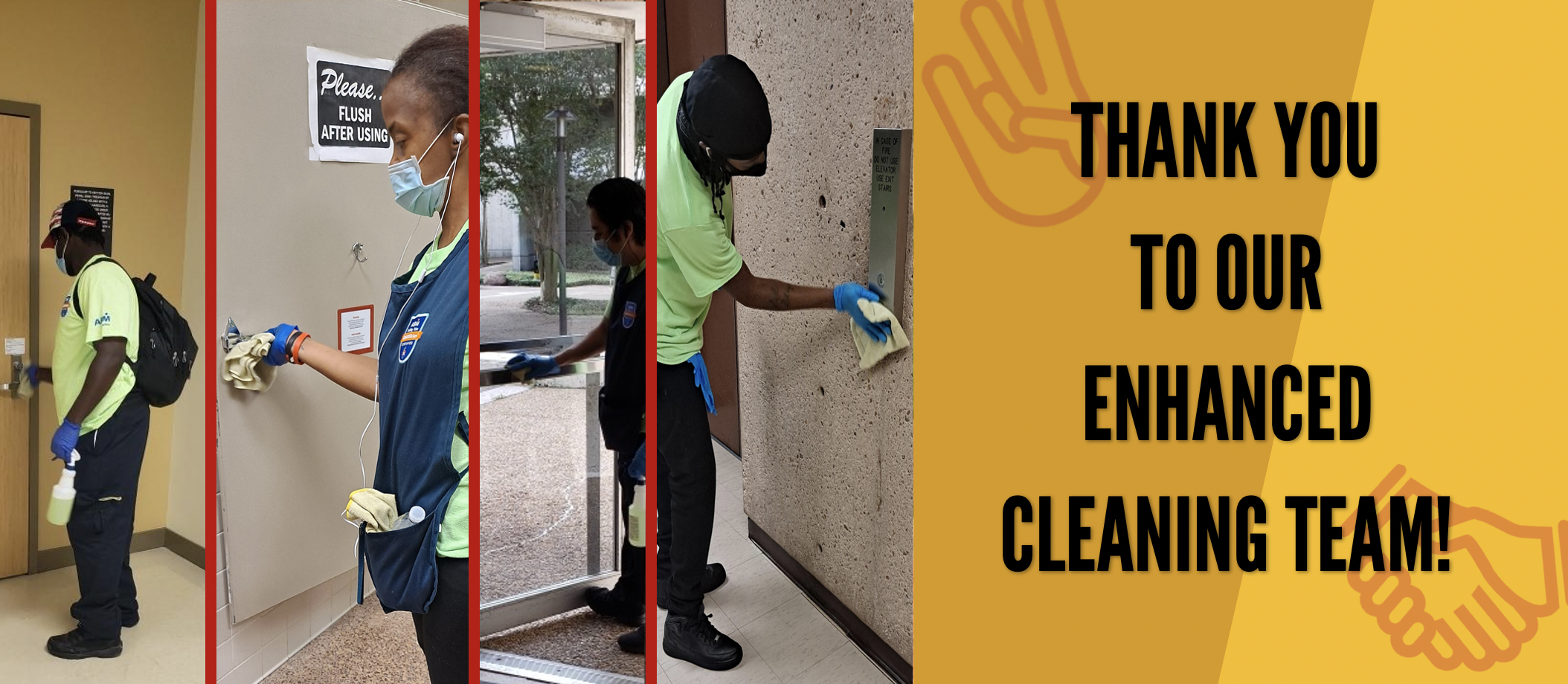 Enhanced Cleaning Team