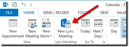 Schedule a Meeting or Conference Call Using Outlook 2010 or