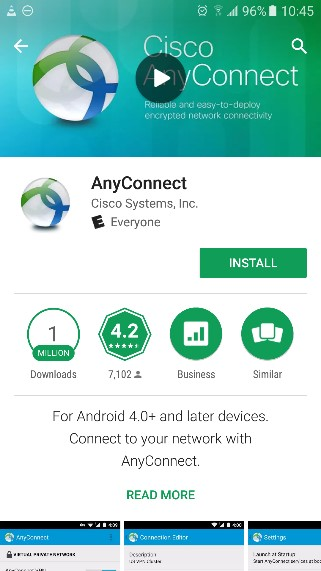 VPN Installation Instructions for Android - University of