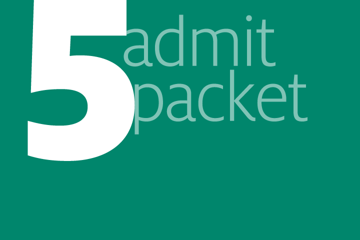 step 5: admit packet