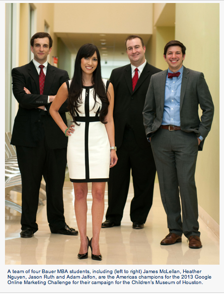 University Of Houston Mba >> Bauer Mba Team Conducts Online Campaign Named Best In The