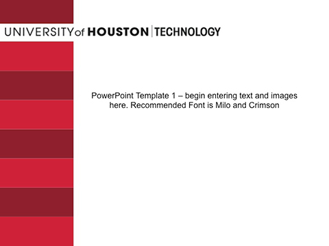 Powerpoint template university of houston tech template red white top toneelgroepblik Image collections