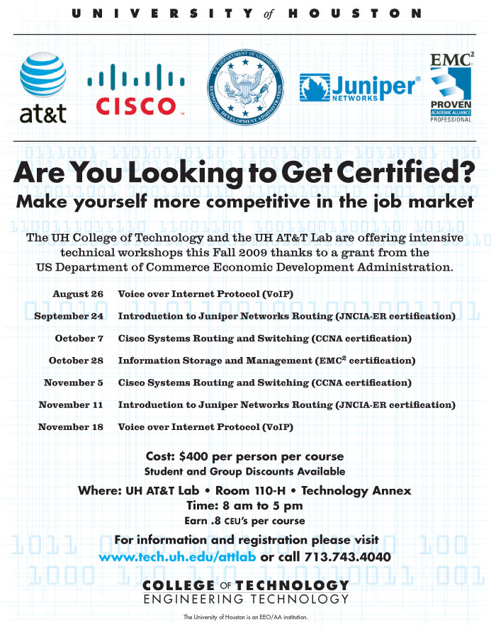 College of Technology Continuing Education Opportunities