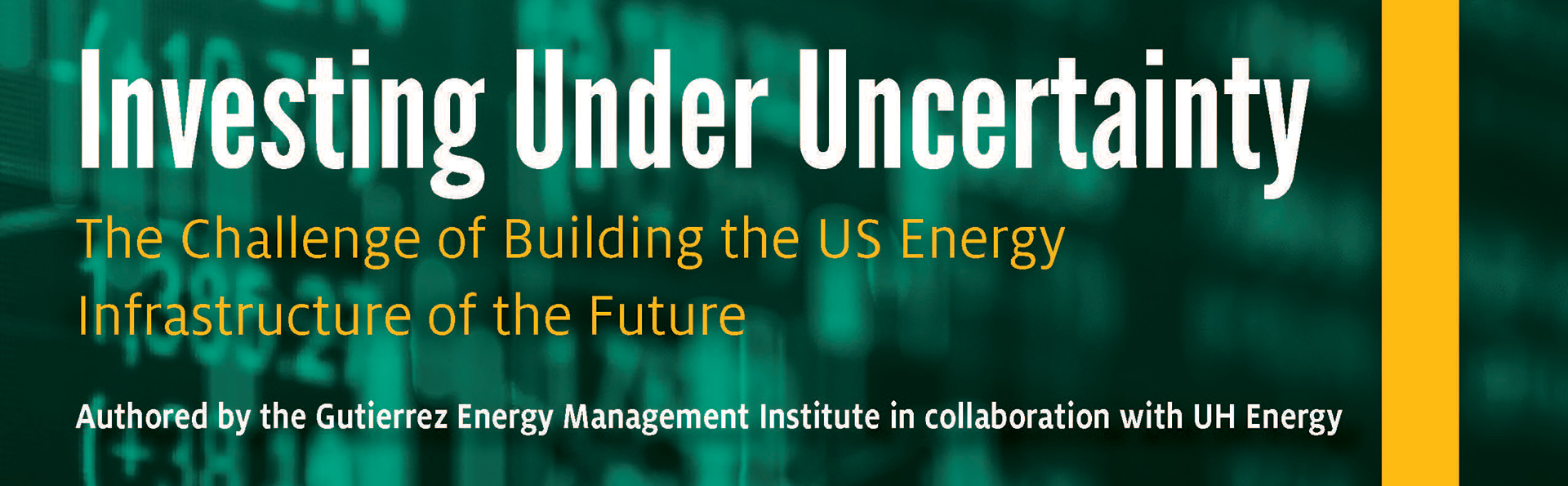 Investing Under Uncertainty: The Challenge of Building the US Energy Infrastructure of the Future
