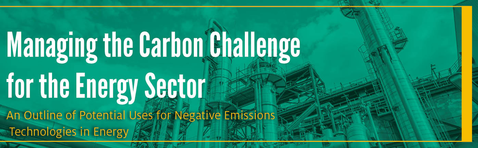 Managing the Carbon Challenge for the Energy Sector